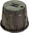 """Caixa redonda de 10 """" • Diâmetro Superior: 35 cm • Altura : 25,40 cm"""