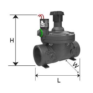 "Legenda-S-210 válvula plástica Elétrica com fecho 1 ½"""